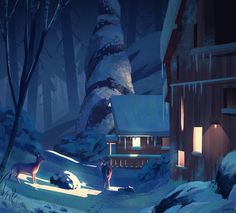 Winter Home, Ghost I on ArtStation at https://www.artstation.com/artwork/kwJ5l