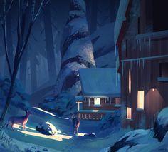 Winter Home, Ghost I on ArtStation at https://www.artstation.com/artwork/kwJ5l