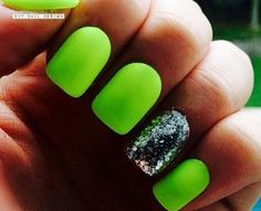14 Bright and Easy Neon Green Nail Art Designs - http://slodive.com/nails-2/14-bright-easy-neon-green-nail-art-designs/