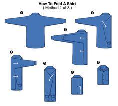 3 formas de doblar una #camisa | Síguenos @CorbMex | Facebook Julio Patán Corporate Fashion | www.ventadecorbatas.com.mx