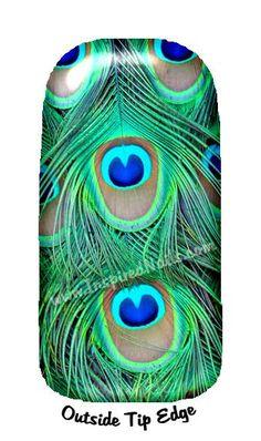 Peacock Nail Art Set