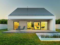 JAGIEŁŁO KRYSIAK ARCHITEKCI | Dom w Gliwicach taras poza obreb dachu