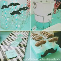 Everything Emily: Mustache Bash Baby Shower! #mustache bash #baby shower #baby boy