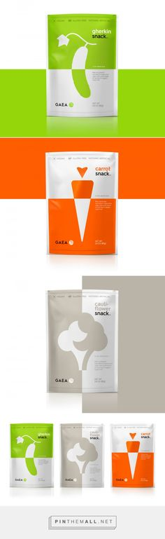 GAEA Vegan Snacks packaging design by Mousegraphics - www. Packaging Snack, Cool Packaging, Brand Packaging, Spices Packaging, Design Packaging, Vitamine B12, Label Design, Graphic Design, Package Design