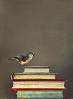 jhenna quinn lewis art | Jhenna Quinn Lewis, Novel Idea, oil, 12 x 16.