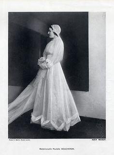 Alex Maguy 1937 Wedding Dress, Miss Paulette Boucheron