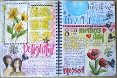 More gratitude journal. Art du Jour by Martha Lever: Journal Page in the Big Journal