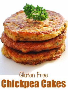 An easy recipe for gluten free chickpea cakes. They're great as a side dish,… An easy recipe for gluten free chickpea cakes. They're great as a side dish, but are substantial enough to serve as a nutritious main course. Healthy Food Blogs, Whole Food Recipes, Diet Recipes, Vegetarian Recipes, Healthy Eating, Cooking Recipes, Healthy Recipes, Easy Recipes, Cooking Corn