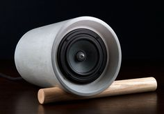 Jack Concrete Speaker by Anaesthetic Design | stupidDOPE.com