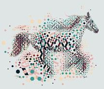 Gestalt-is it a horse, or just multi colored lines and dots?