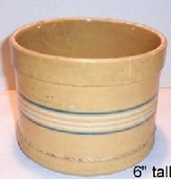 Yelloware Butter Tub with applied slip bands