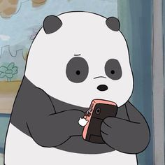 Find images and videos about bear, panda and cartoon network on We Heart It - the app to get lost in what you love. We Bare Bears Wallpapers, Panda Wallpapers, Cute Cartoon Wallpapers, Cute Panda Wallpaper, Bear Wallpaper, Bear Cartoon, Cartoon Icons, Cartoon Network, Panda Icon
