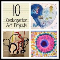 Favorite Art Projects for Kids:  Roundup of Kindergarten Lessons