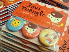 Love Triangle buttons.