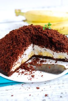 Bezglutenowe i wegańskie ciasto à la kopiec kreta / Gluten-free & vegan Mole Mound Cake – Na Kuchennym Progu Vegan Gluten Free, Gluten Free Recipes, Dairy Free, Vegan Recipes, Paleo, Vegan Baking, Healthy Baking, Healthy Food, Vegan Sweets