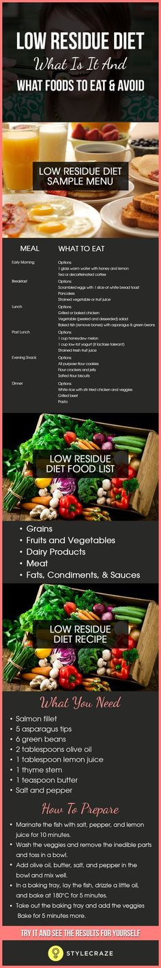 does a low residue diet lessen loose stool