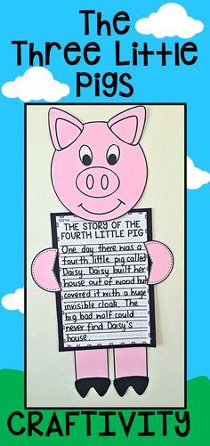 Three Little Pigs Writing Craftivity.
