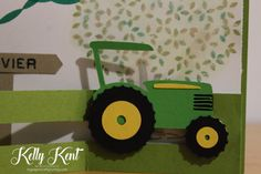 Z-Fold Sliding Tractor Card – kelly kent Folded Cards, Little Man, Tractors, Cardmaking, Stampin Up, Birthday Cards, Crafty, Toys, Gifts