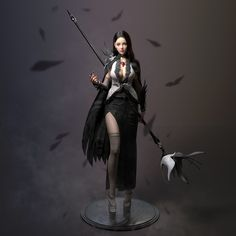 This is the first time we have published our student work on the zbrush forum, thanks to powerful zbrush. Character Concept, Character Art, Character Design, Fantasy Characters, Female Characters, Female Wizard, Warrior Girl, 3d Girl, Dark Fantasy Art