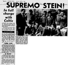 The saviour arrives. Jock Stein meets the Celtic squad for the first time. March 8th, 1965.