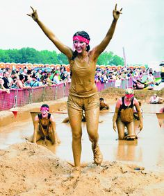 This will be me (and Todd, Brandon and friend Jennifer) this Saturday!!  Warrior Dash... 3.34 miles and 13 obstacles!!