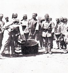 Serving out rations at Gallipoli