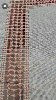 Sandra Ochoa Ayala's media content and analytics Embroidery Stitches Tutorial, Embroidery Sampler, Hardanger Embroidery, Hand Embroidery Designs, Embroidery Patterns, Cross Stitch Patterns, Drawn Thread, Thread Work, Monks Cloth