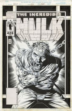 Original Hulk 426 Cover Art Pencils by Liam Sharp Inks by Robin Riggs | eBay