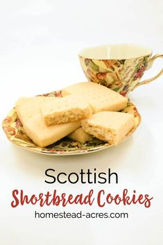 Classic Scottish shortbread cookies made with only 3 ingredients. This recipe is so simple and easy to make, you can whip up a batch of buttery Christmas treats in no time! #shortbreadcookies #scottishshortbread #christmascookies #Christmas…