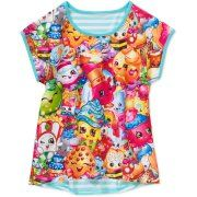 Shopkins Striped Jersey Back Top With Sublimation Print
