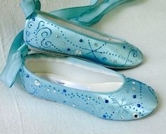 Frozen shoes  tiffany blue  flats   frozen girls blue by norakaren