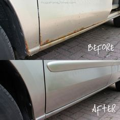 DIY Rust Removal: Make Your Beater Better! Costs less than $40 and takes less than an afternoon to make your car look less old.