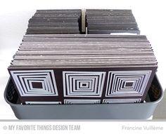 Craft supplies storage system by Francine (www.1001cartes.ch) storage, die, #dienamics, Die-namics, stanzschablonen, découpes, dies, crafts, papercrafts, #1001cartes, cardmaking