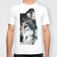 Wolf Art - Timber by Sharon Cummings  T-shirt by Sharon Cummings - $22.00