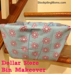 Dollar Store Bin Makeover is so simple to do and make!