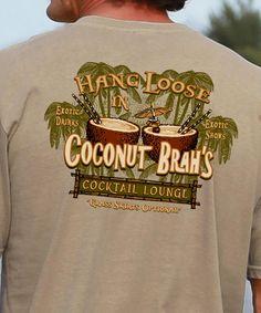 Coconut Brah Crazy Shirts, Cool T Shirts, Kids Shirts, T Shirts For Women, Grass Skirt, Funny Tshirts, Coconut, Graphic Sweatshirt, Sweatshirts