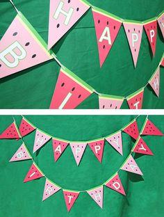 Sweet Watermelon Invitation Party Banner by TigerLilyInvitations