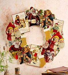 Wooden Vintage Card Wreath * You can get more details by clicking on the image.