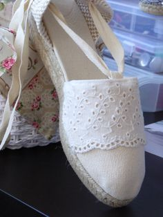 Pretty Shoes, Cute Shoes, Me Too Shoes, Lace Espadrilles, Espadrille Shoes, Boho Sandals, Shoes Sandals, Wedding Shoes Heels, All About Shoes