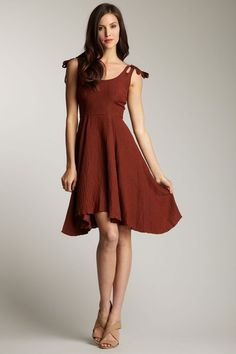 Frock! by Tracy Reese - Layla Puckered Silk Asymmetrical Hem Dress.  Cutest thing!