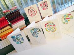 Fresh Cut Flowers Notecards by StitchedInColor, via Flickr