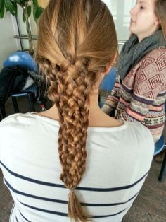 I did this #11StrandBraid on a friend's hair... kinda proud of it :D xoxo Lucy