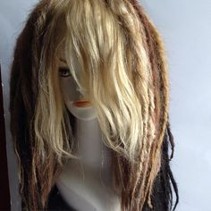 custom dread wig fringe ombre blond auburn black from damnationhair.com #damnationhair
