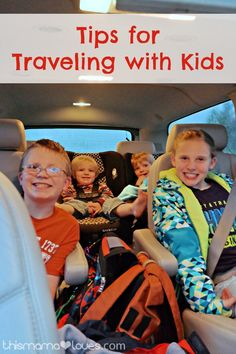 Tips for Traveling with Kids: Happy Kids, Happy Ride- tips from a mom of 5 #MomHacks #ad