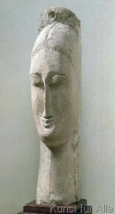 Amedeo Modigliani - Head of a Woman                                                                                                                                                                                 More