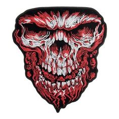 Sugar Skull Iron On Patches Snake Mexican King Cobra Awesome Cool Embroidered