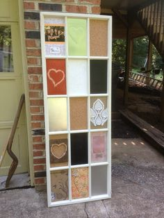 Window pane up-cycled from Habitat store into fab memo board for college dorm Glass Panel Door, Glass Panels, Habitat Store, Creating A Brand, Girl Room, Repurposed, Diy Projects, Doors, Frame