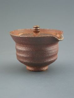 Shiboridashi Teapot 100ml. wood-fired iron rich by GREENWOODSTUDIO