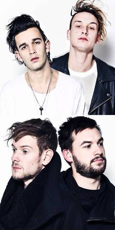 Matty Healy. George Daniel. Adam Hann. Ross Macdonald.♚ Pinterest; @Ellieepope ♔