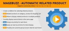 Automatic Related Product Magento Extension: The extension enables you to define the rules for related products and offer people alternatives to the current product automatically....http://magentoextensionsfree.com/automatic-related-product-magento-extension-catch-modern-trend.html